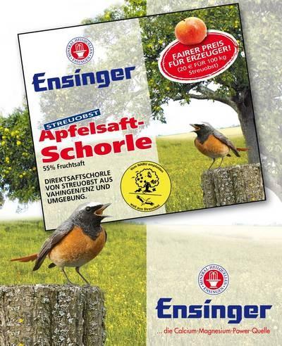 Ensinger Broschüre zum Streuobst Apfelsaft-Schorle