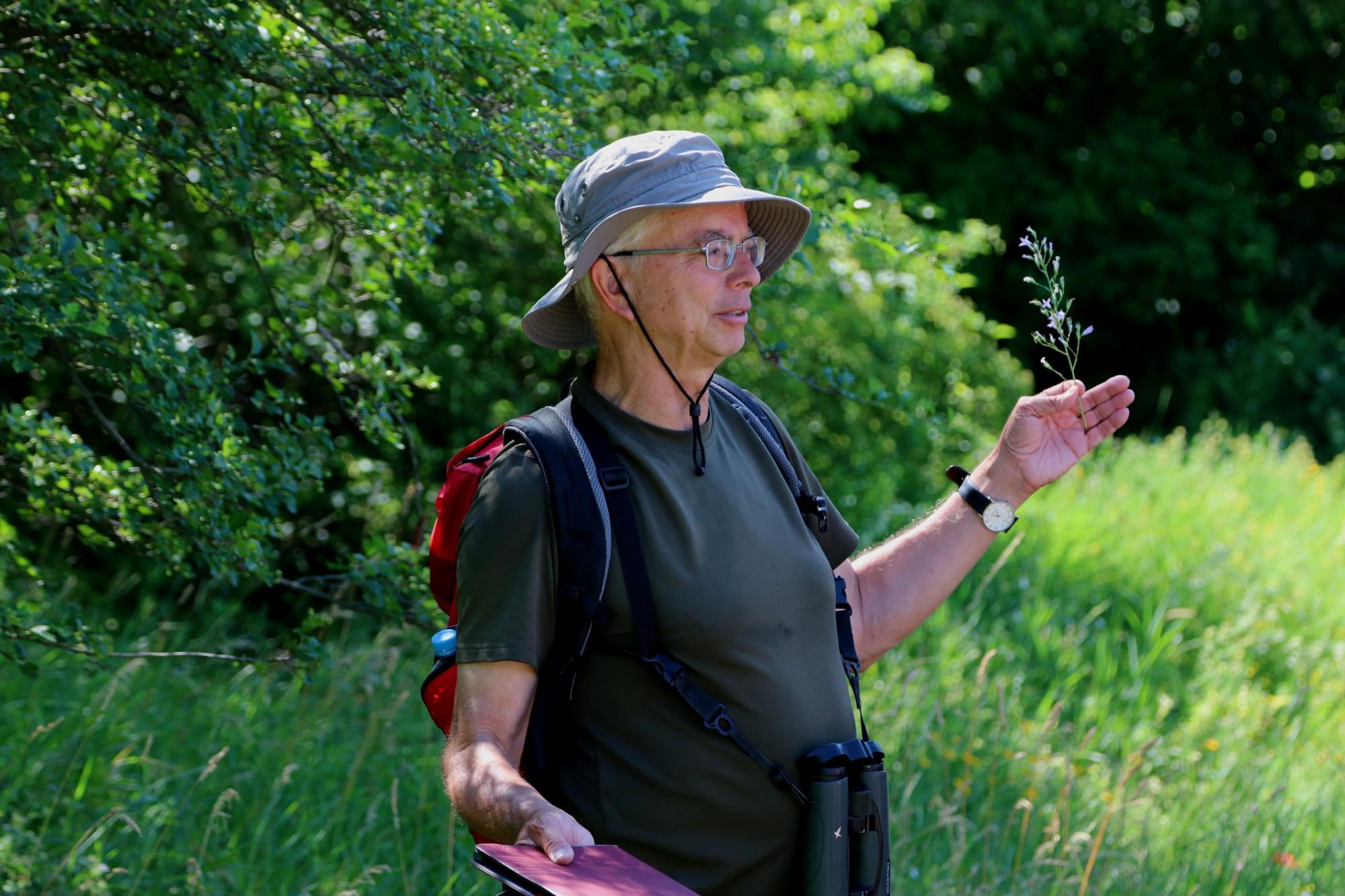Christoph Kaup NABU-Vorstandsmitglied und Naturparkührer des Stromberg-Heuchelberg