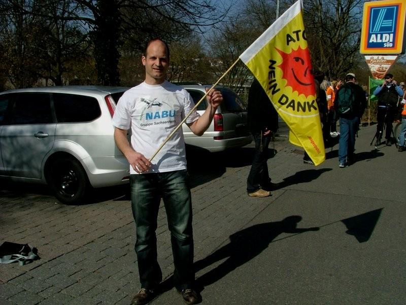 Martin Buck bei der Menschenkette für den Atomausstieg