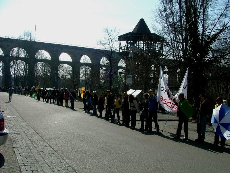 Die Menschenkette war komplett geschlossen