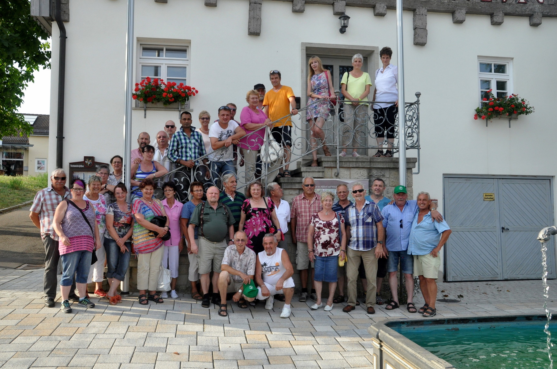 Abschluss der Lehrfahrt 2015 in Alfdorf