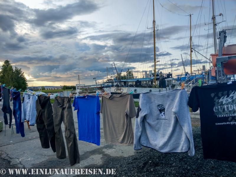 Wäsche waschen und trocknen direkt am Hafen