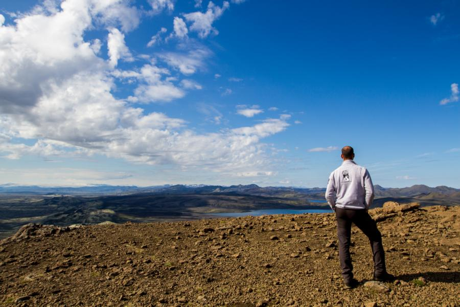 Ausblick vom Berg Laki