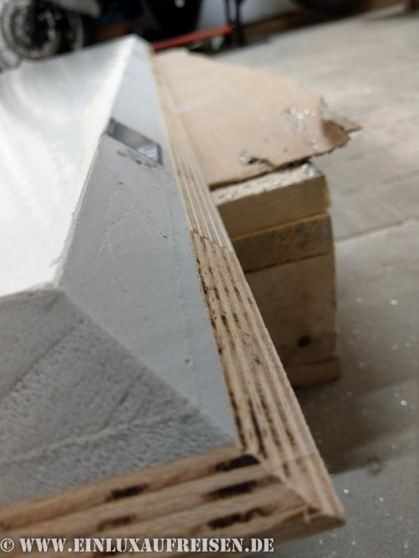 Dachplatte mit 45° Winkel