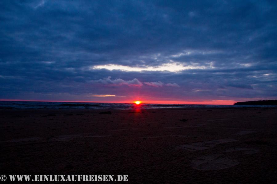 Sonnenuntergang am Meer (Ostsee) in Lettland
