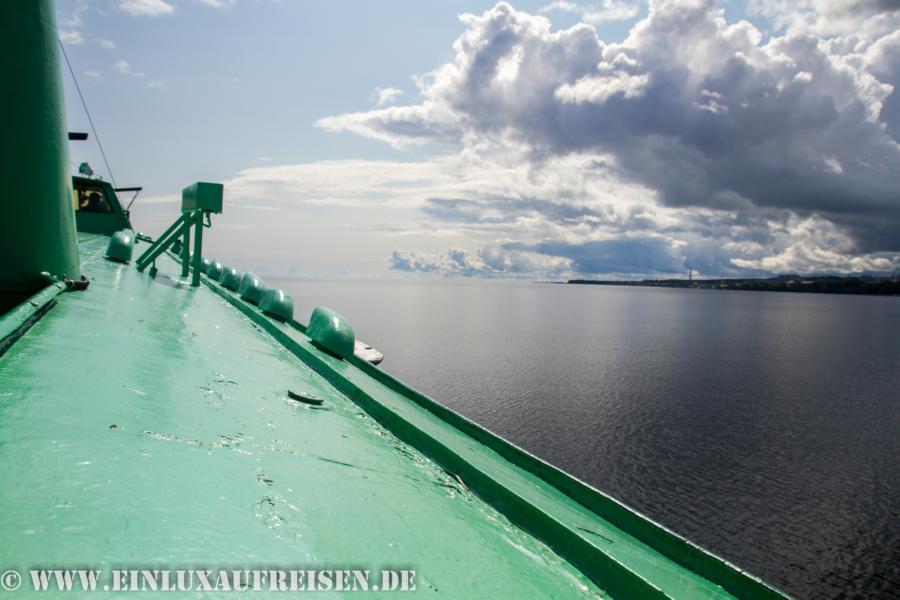 Überfahrt mit dem Tragflächenboot zur Insel Kizhi