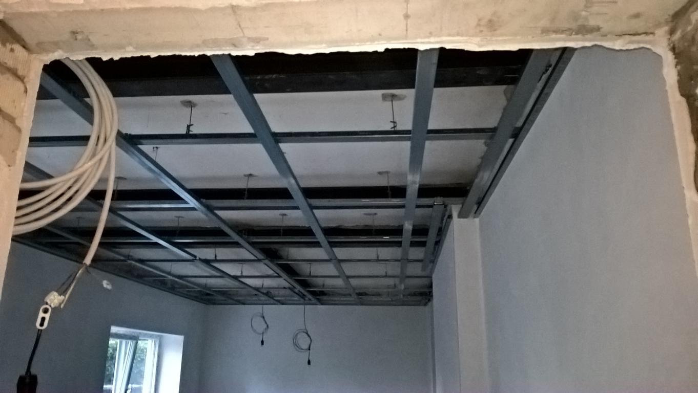 Unterkonstruktion der Decke