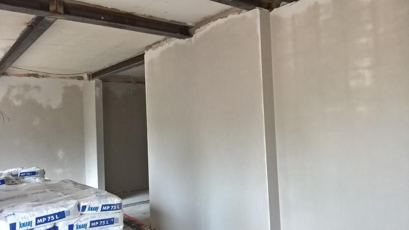 Wände werden verputzt