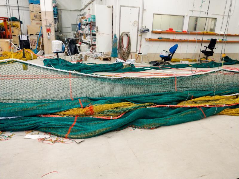 Werkstatt zum Flicken von Netzen