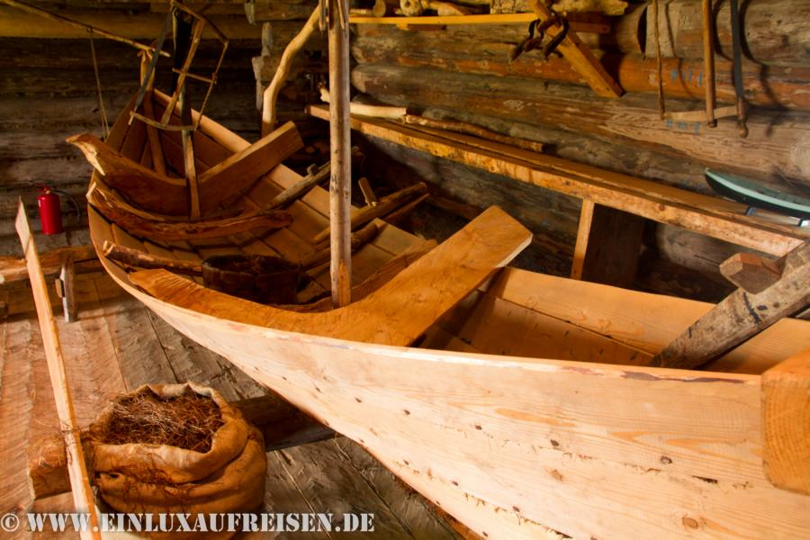 Bootsbau auf Kizhi