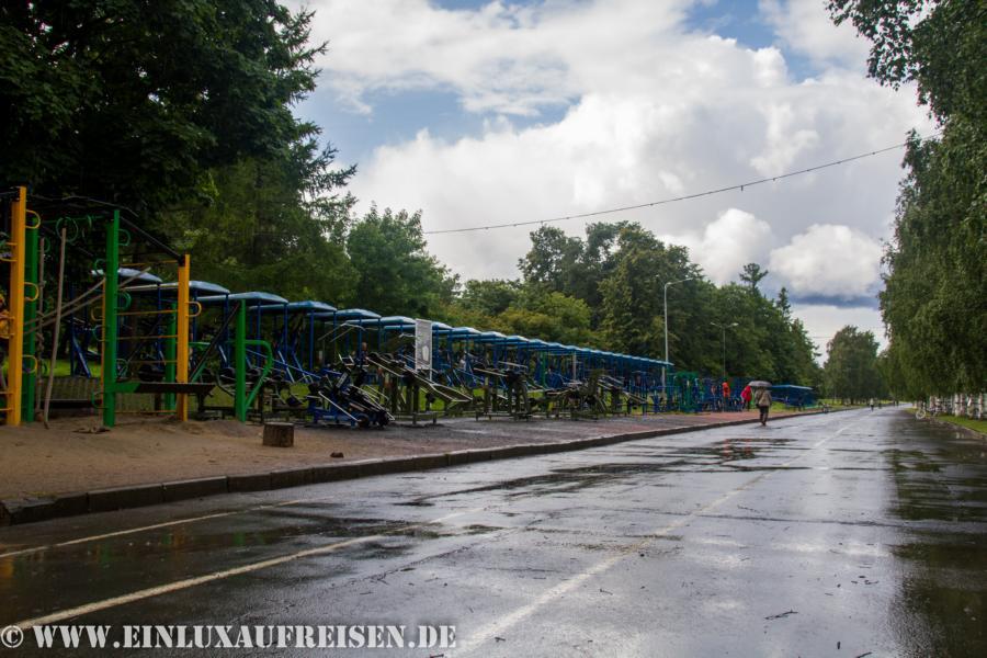 öffentliches Fitnessstudio unter freiem Himmel Petrozavodsk