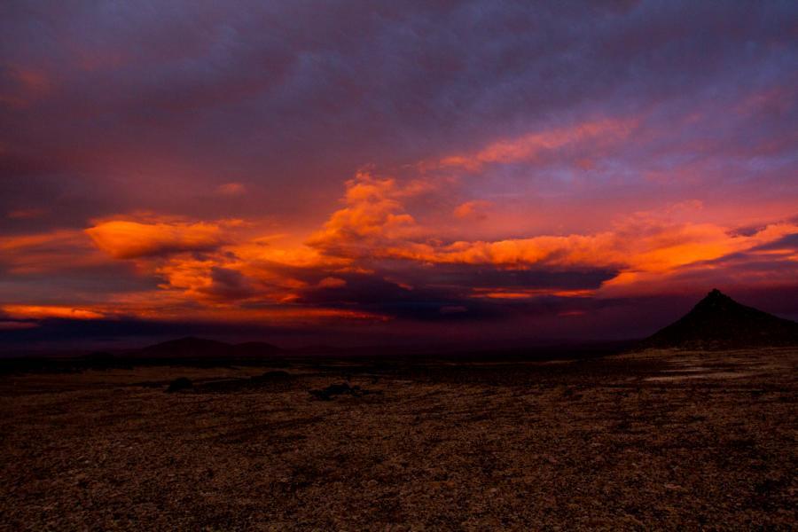 Sonnenuntergang an der Askja
