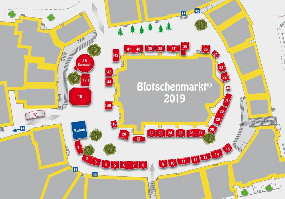 Standplan Blotschenmarkt 2019