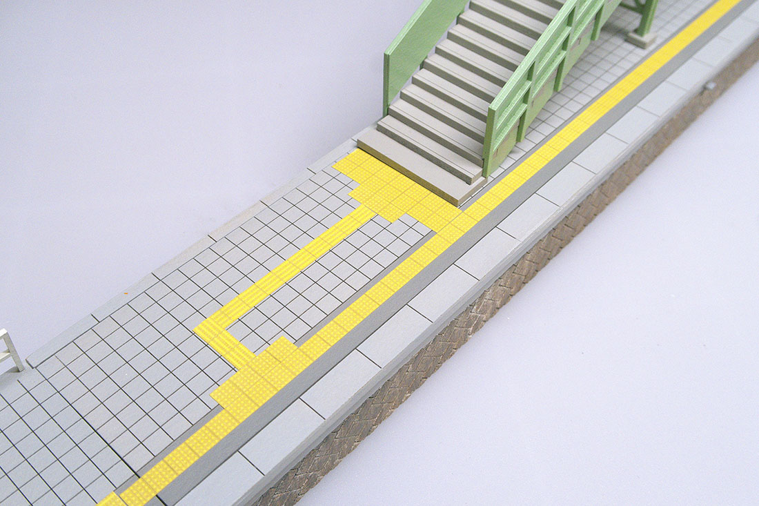 HO点字ブロック  レーザー彫刻で凹凸を付けたシールです