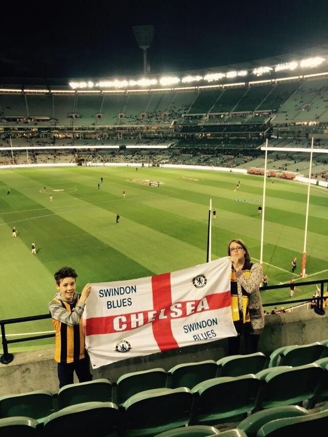 18/06/15 at the Melbourne Cricket Ground on the occasion of an Aussie rules football match between Hawthorn Hawks and Adelaide Crows.