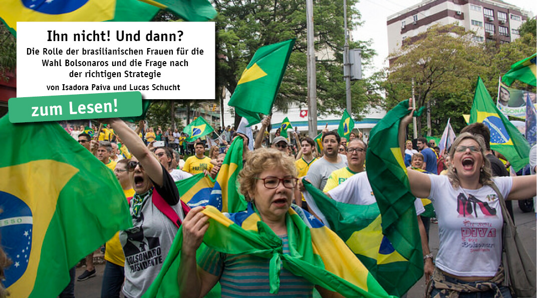 Die #EleNão-Bewegung, die sich vor den Präsidentschaftswahlen in Brasilien gegen den rechtsextremen Kandidaten Jair Bolsonaro ausgesprochen hat, konnte Millionen von Frauen im ganzen Land mobilisieren. Doch Bolsonaro gewann die Präsidentschaftswahl...