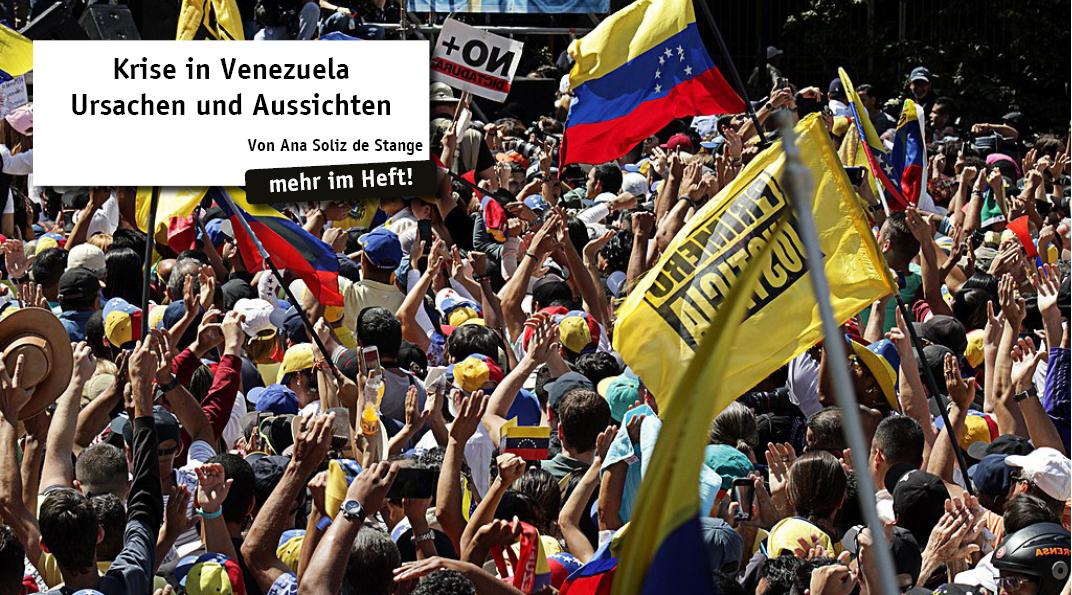 Venezuela befindet sich gerade in der schlimmsten wirtschaftlichen und demokratischen Krise der Landesgeschichte. Das autoritäre Regime Maduros und die ebenfalls für die kritische Situation verant- wortliche Opposition machen aus Venezuela eine ticke...