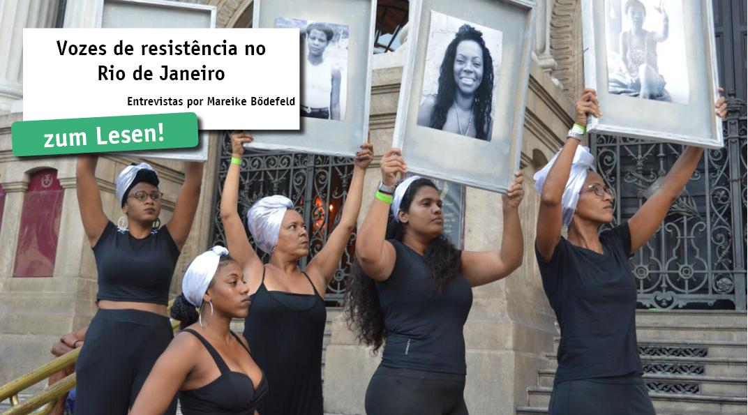 Mareike Bödefeld entrevistou três atores de movimentos/resistências sociais no Rio de Janeiro em um evento em memória de Marielle Franco e Anderson Gomez. O que significa resistência para eles e porque é que, sob o governo de Jair Bolsonaro...