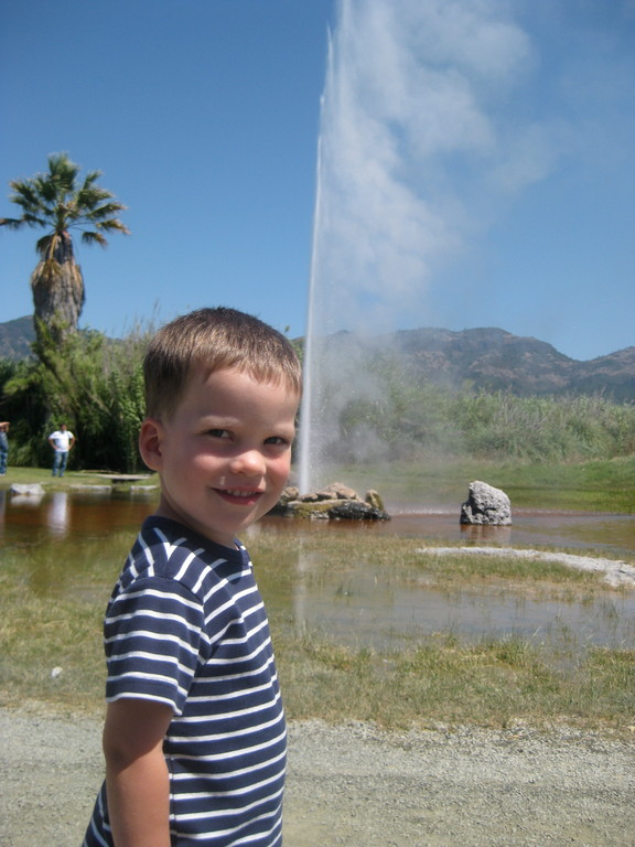 watching 'old faithful' in calistoga