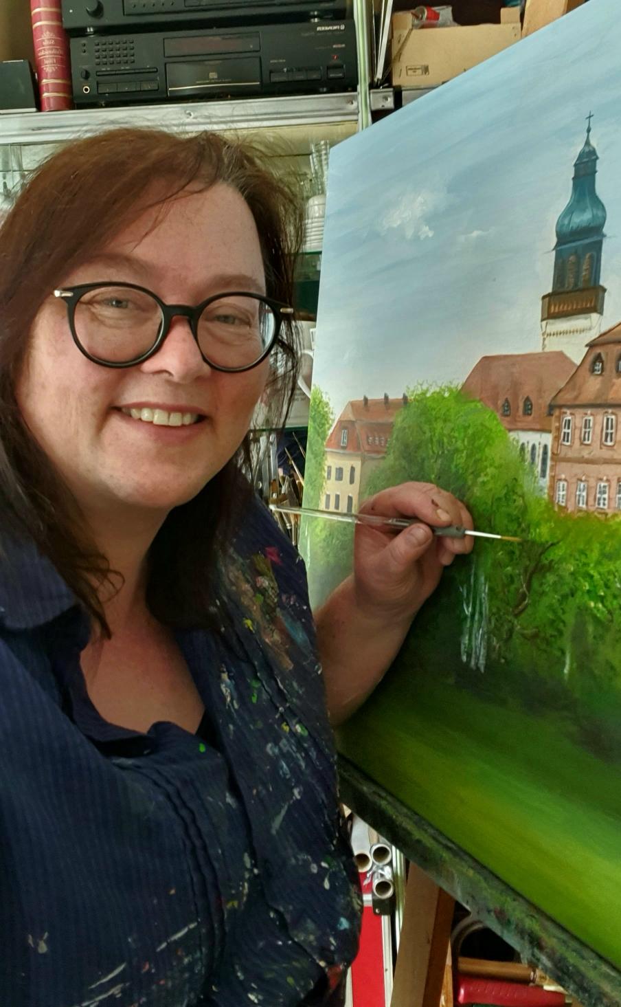 Kunst ist auch auch Handwerk. Auftragsmalerei ist immer wieder eine gute Gelegenheit sein Handwerk zu festigen!