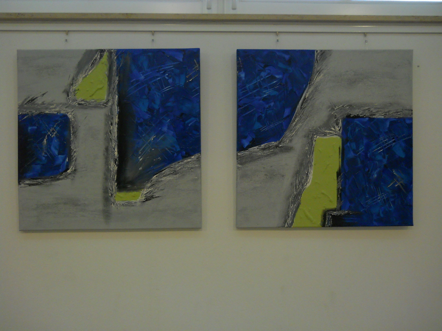 Stand und Schwungbein - blau