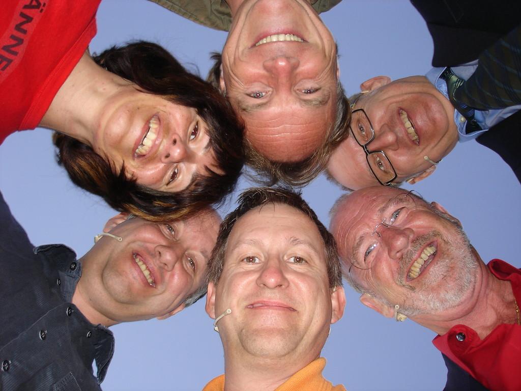 ...die glorreichen 6 der ersten Produktion (Sandra, Dirk, Gerhard, Jack, Armin und Marcus)