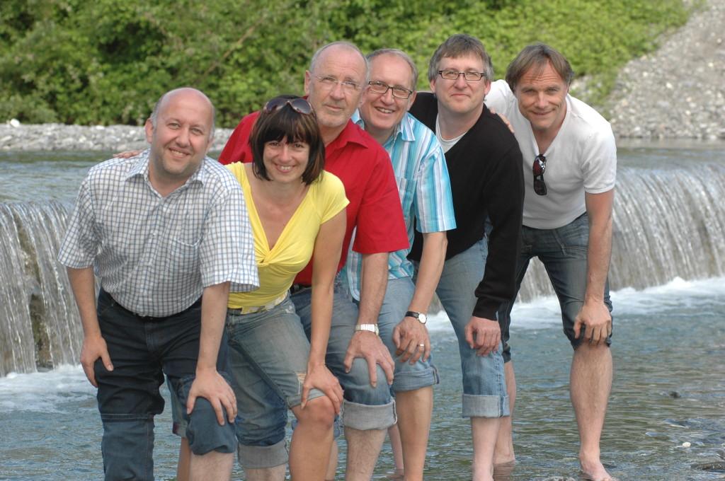 ein tolles Team, oder? Marcus Harm, Sandra Aberer, Jack E. Griss, Gerhard Zuggal, Armin Weber und Dirk Waanders