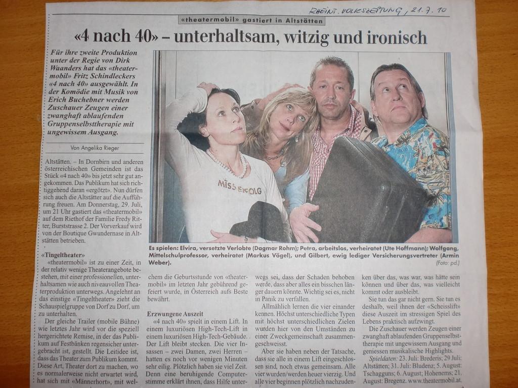 Rheintaler Volkszeitung 21.7.2010