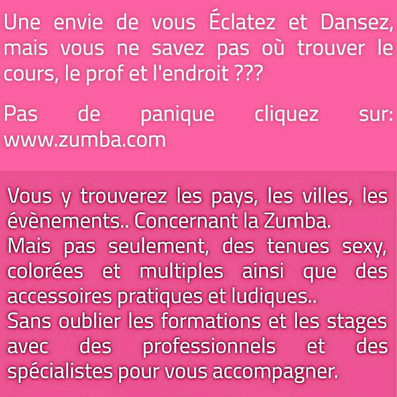 🎶 Zumba® in the World 🎉 Zumba®... Ouais 💕