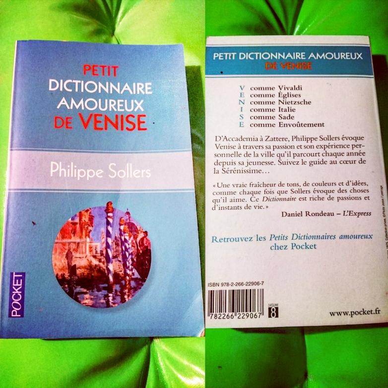 ''Petit Dictionnaire Amoureux de Venise'' di  Philippe Solers