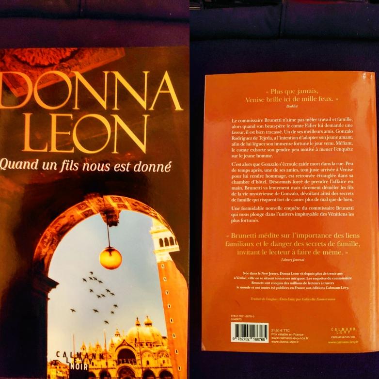 ''Quand un fils nous est donné''   DONNA LEON