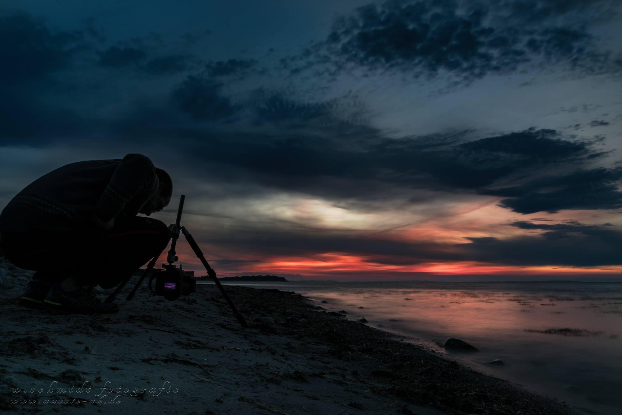 die Birk mit Blick auf die Dänische Küste