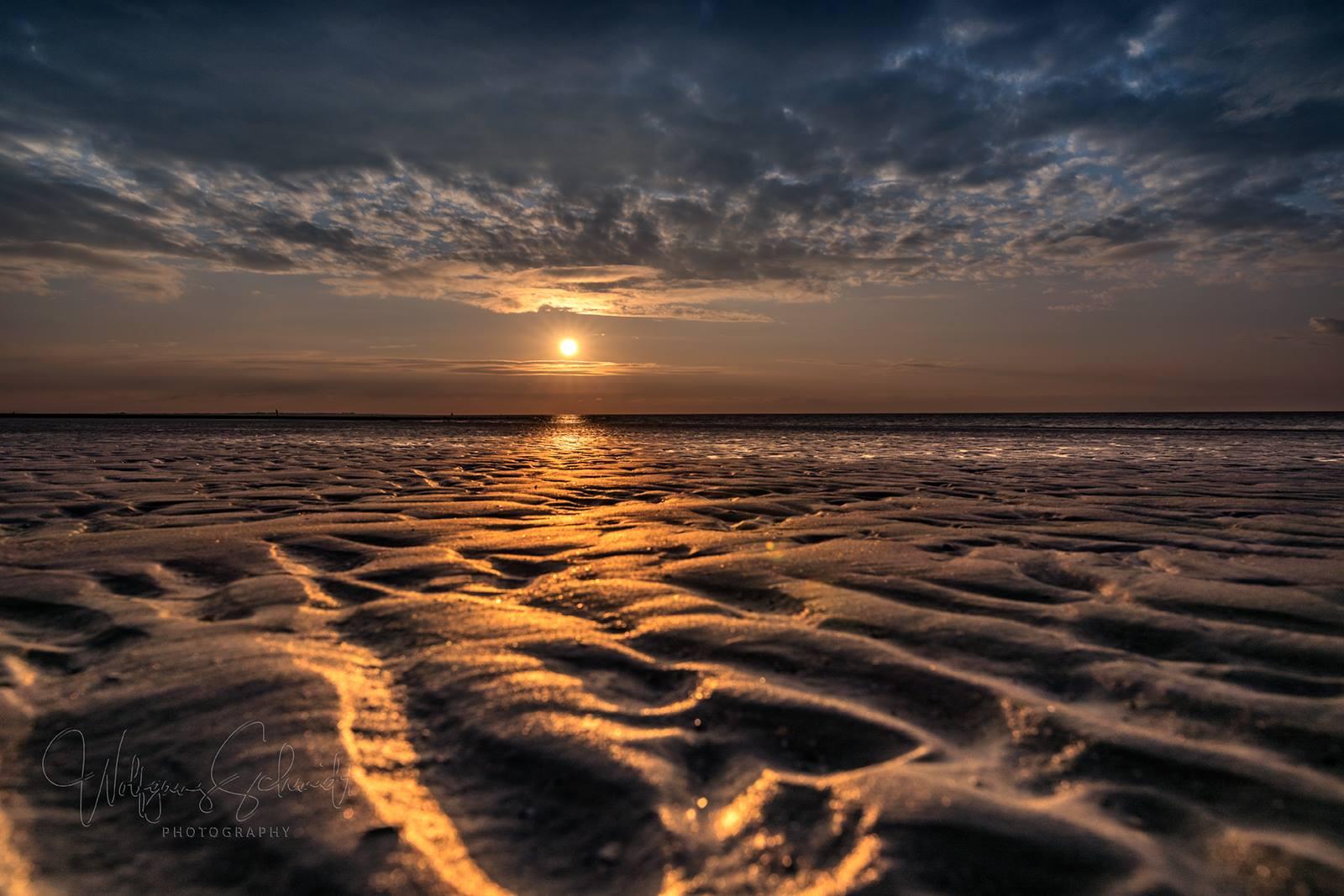 Sunset Wattenmeer Norderney