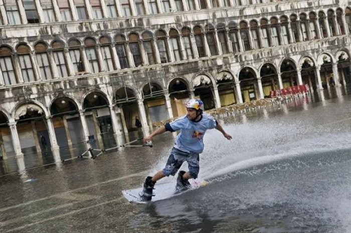 "The rising water in ""Piazza San Marco"" is a unique event"
