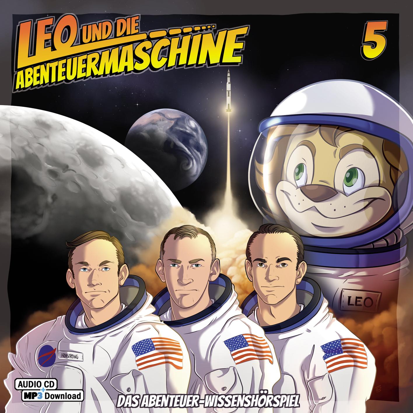 CD-Cover Leo und die Abenteuermaschine 5
