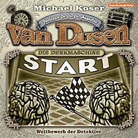 CD-Cover PROFESSOR DR. DR. DR. AUGUSTUS VAN DUSEN – DIE DENKMASCHINE 08 – Wettbewerb der Detektive