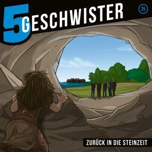 CD-Cover 5 Geschwister - Zurück in die Steinzeit