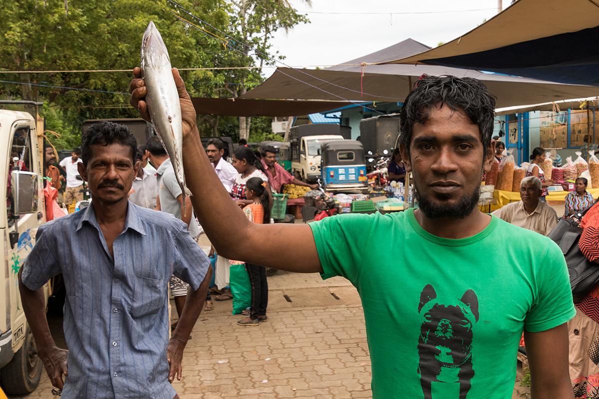 Fischhändler in Tissa