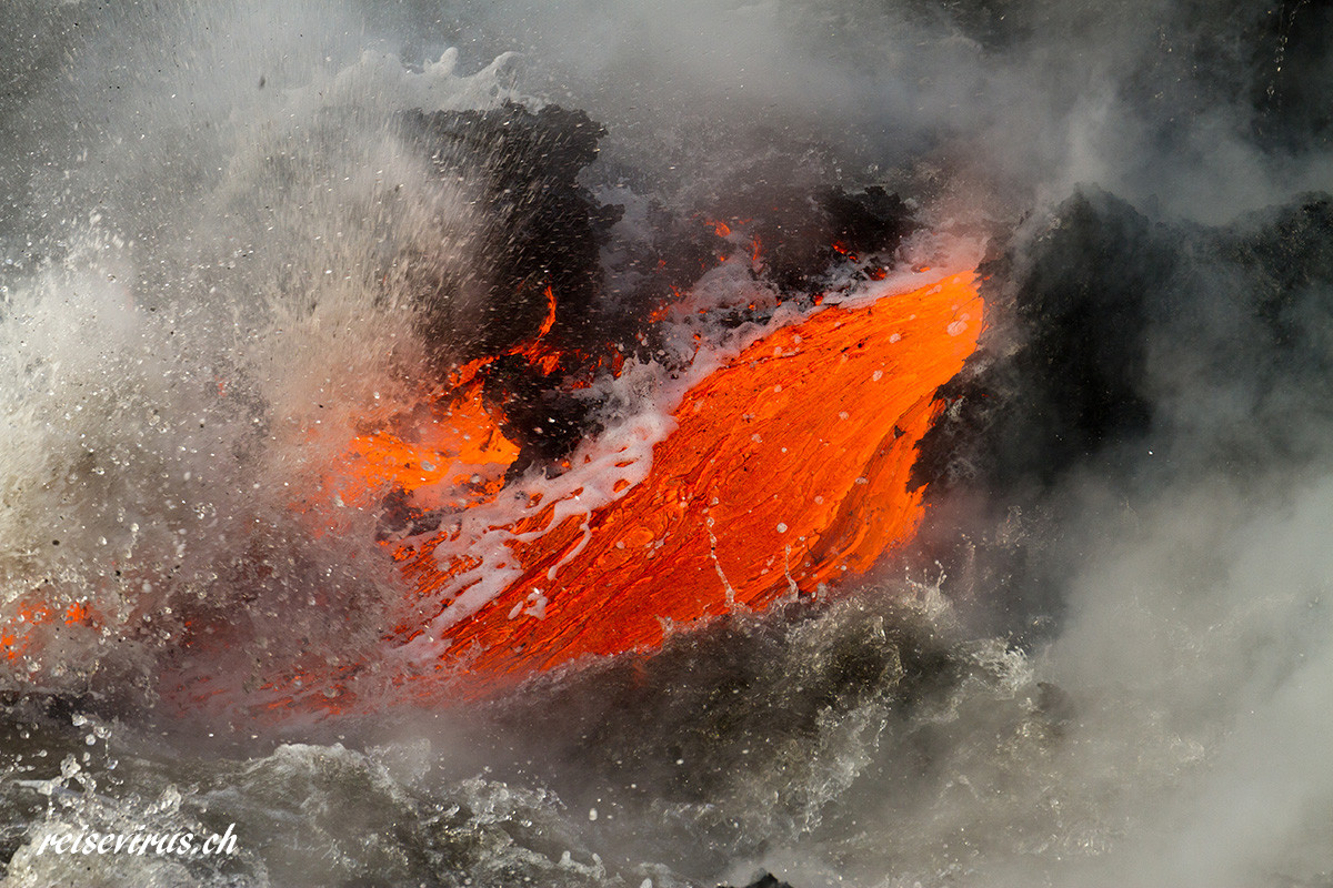 Hawaii, Lava flow, 2013