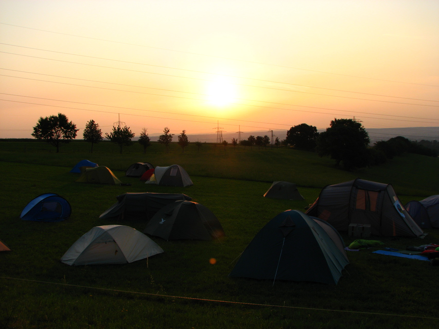 So romantisch kann Zelten sein