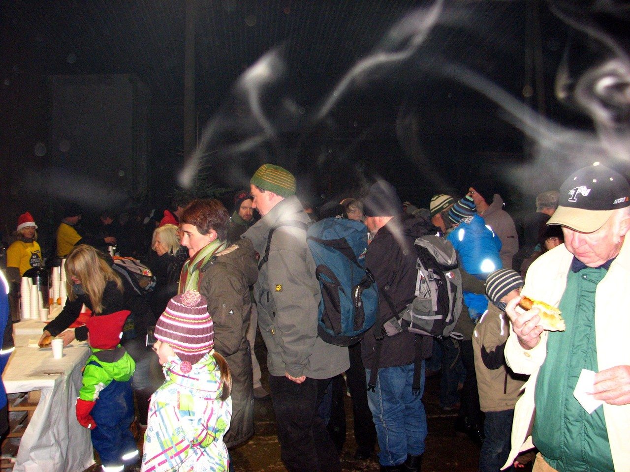 Dampf in der Traktorenhalle
