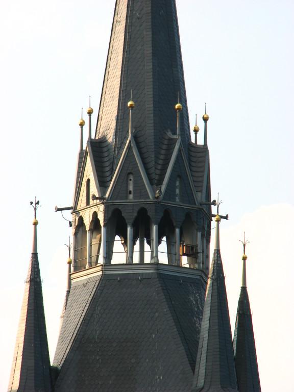 Immer im Blick, der Kirchturm.