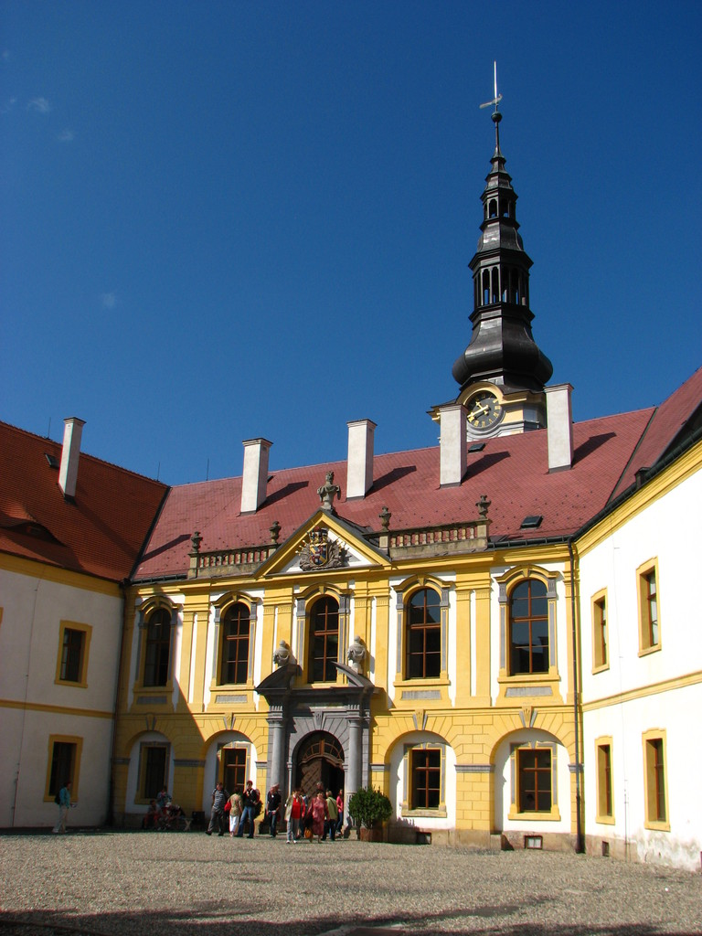 Der Innenhof des Deciner Schlosses