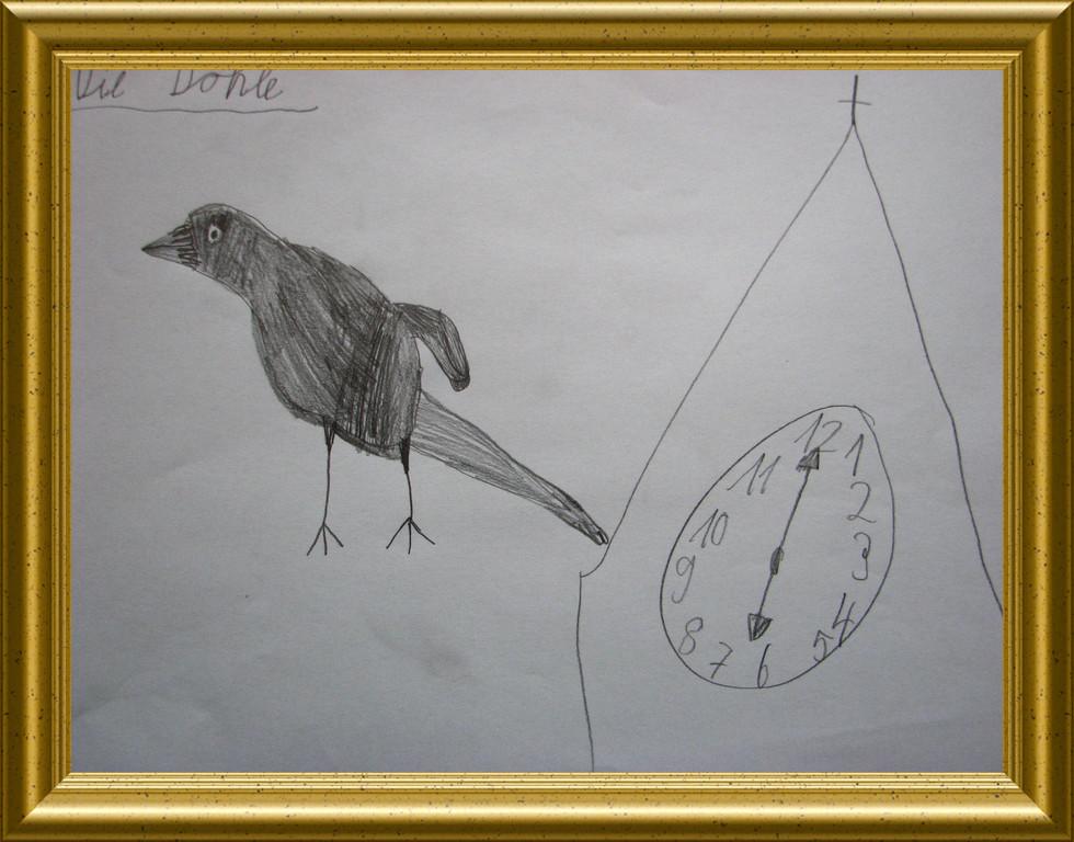 Fliegende Dohle ( Künstler muss noch nachermittelt werden)