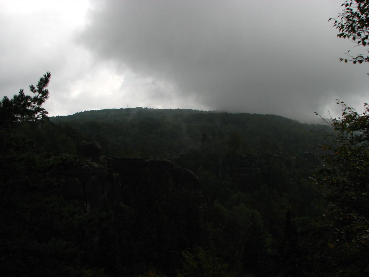 Der große Winterberg im Nebel