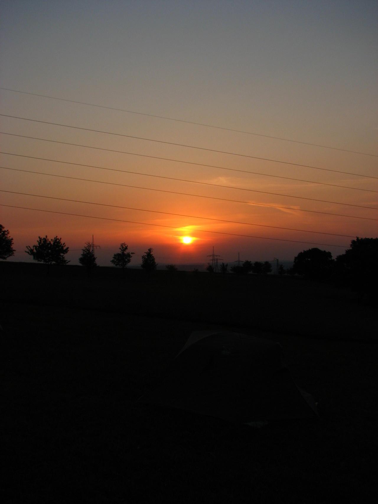 Sonnenaufgang über Podemus