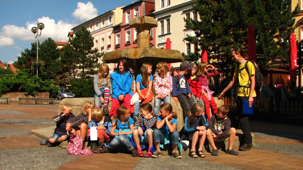 Unsere Gruppe vor dem Schloss
