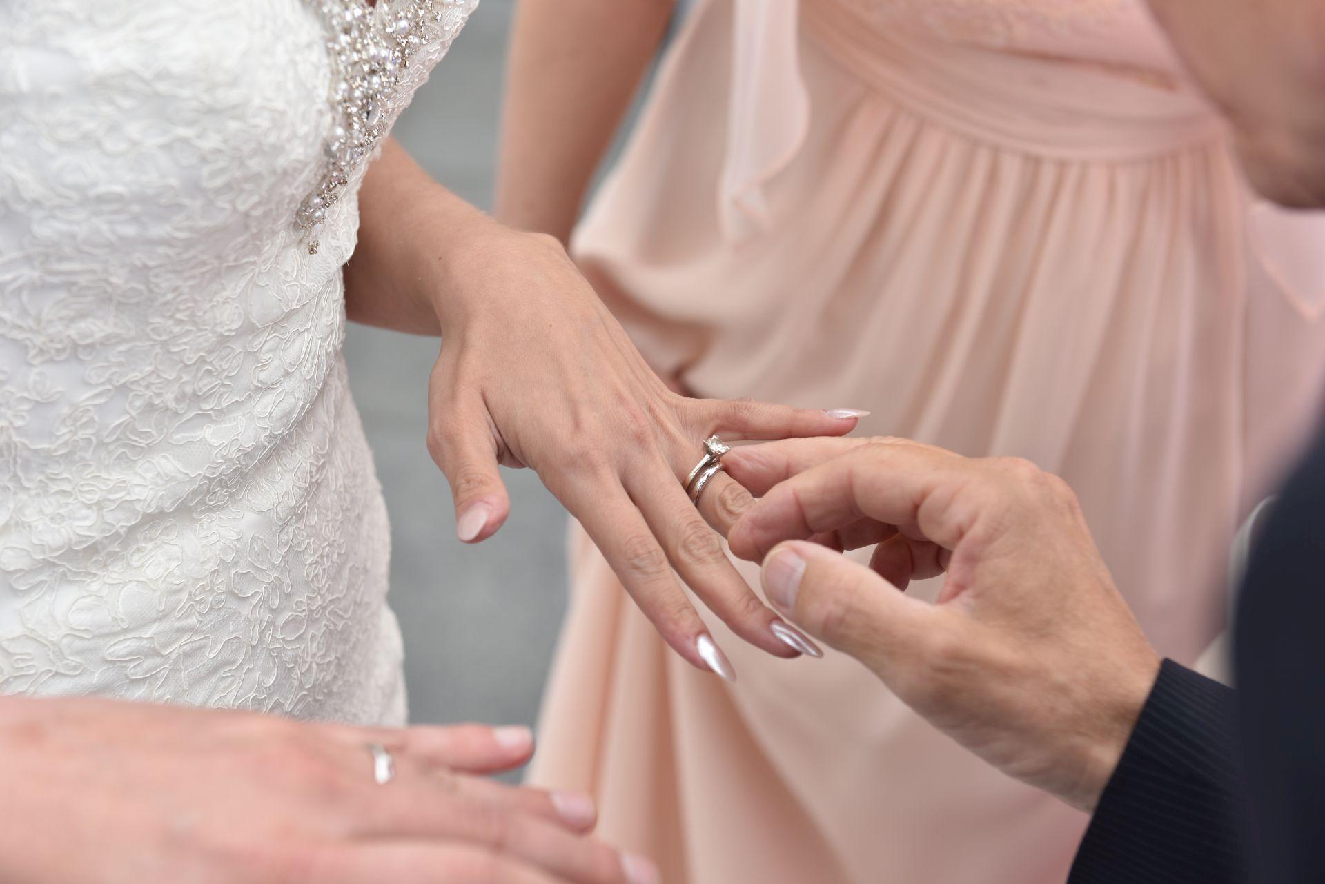 Hochzeit in hellblau