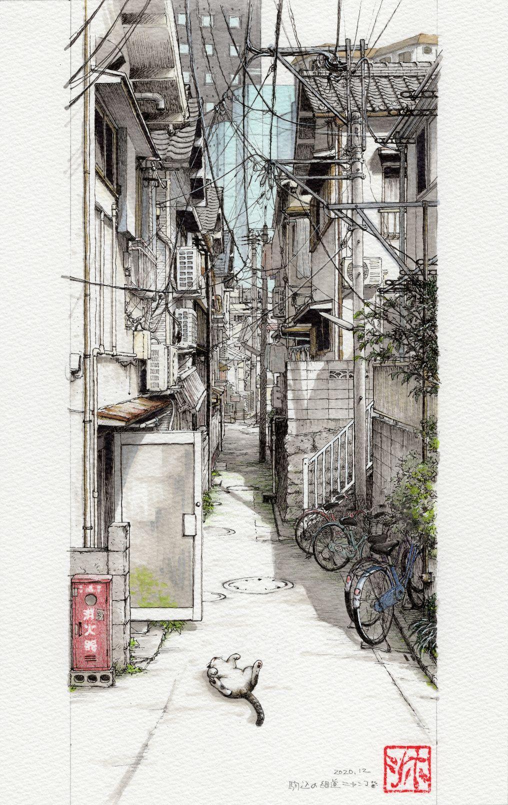 駒込の細道ニャンコ