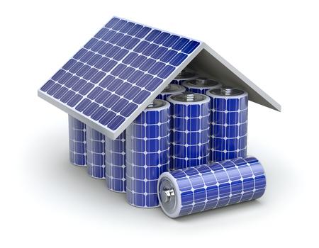 Symbolbild Photovoltaik und Batteriespeicher © Clipdealer